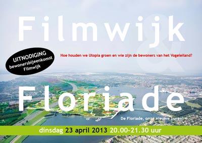 flyer Uitnodiging Floriadebijeenkomst Platform Filmwijk