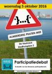 Poster participatiedebat Burgerparticipatie Almere