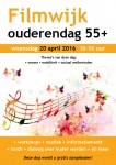 flyer Ouderendag 55+ Filmwijk, 20 april 2016