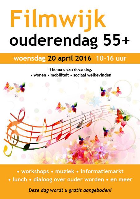 flyer Ouderendag 55+ Filmwijk, 20 april 2016